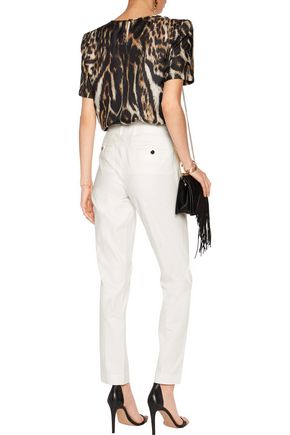 ROBERTO CAVALLI Cotton-blend straight-leg pants