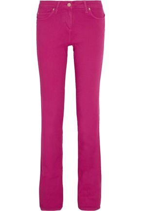 ROBERTO CAVALLI Cotton-blend twill straight-leg pants