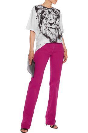 ROBERTO CAVALLI Cotton-blend twill straight-leg pants