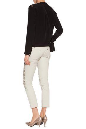 ROBERTO CAVALLI Sequin-embellished jeans