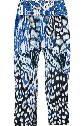 ROBERTO CAVALLI Printed silk pants