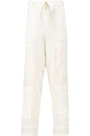 ROBERTO CAVALLI Paneled silk-crepe pants