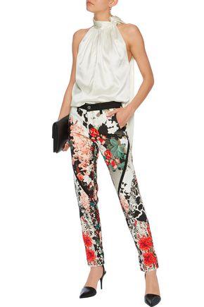 ROBERTO CAVALLI High-rise printed skinny jeans