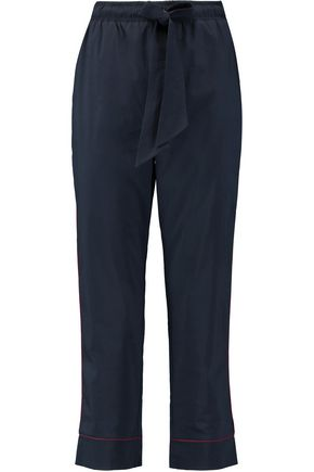 GANNI Cotton-blend tapered pants
