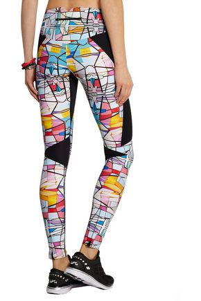 LUCAS HUGH Leadlight printed stretch leggings