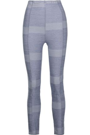 LISA MARIE FERNANDEZ Karlie striped cotton-blend leggings