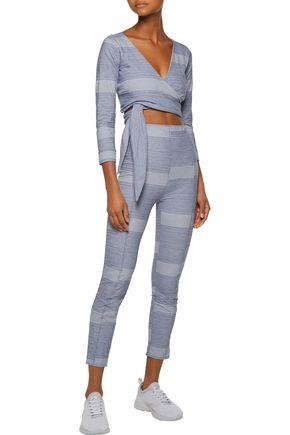 LISA MARIE FERNANDEZ Karlie striped cotton-blend leggings