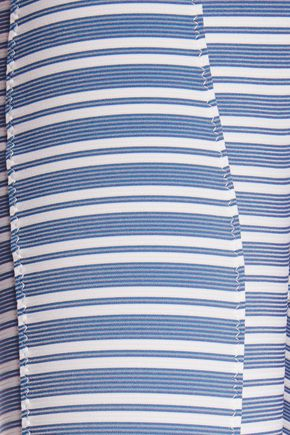 LISA MARIE FERNANDEZ Genevieve striped stretch-jersey jumpsuit