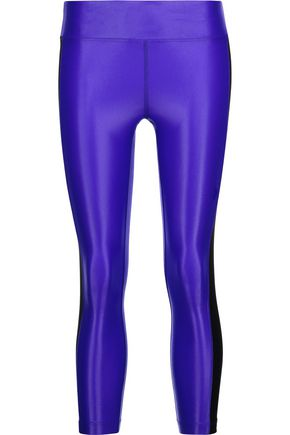 KORAL Dynamic Duo cropped coated stretch leggings