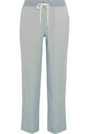 MONROW Washed-twill track pants