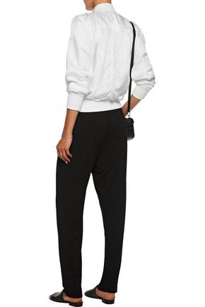 ENZA COSTA Easy pleated stretch-jersey track pants