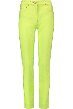 MOSCHINO Crepe slim-leg pants