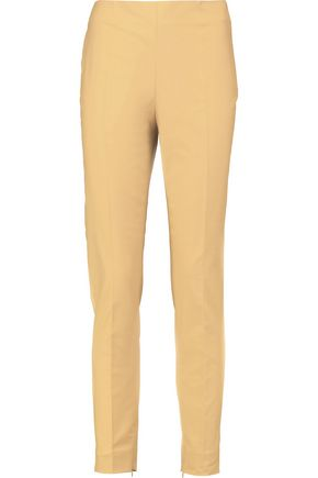 MOSCHINO Cotton-blend slim-leg pants