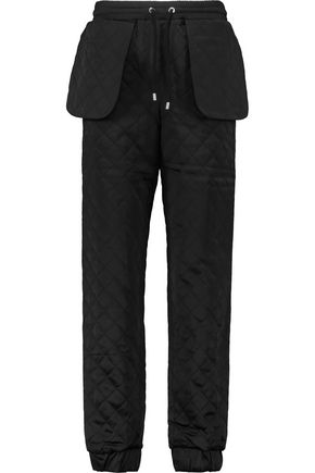 MOSCHINO Quilted satin track pants