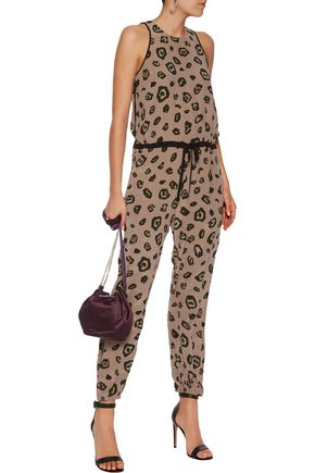 L'AGENCE Printed silk jumpsuit