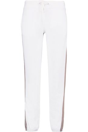 MONROW Two-tone jersey track pants