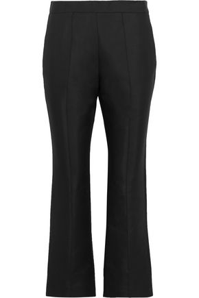 MARNI Printed cotton and silk-blend crepe bootcut pants