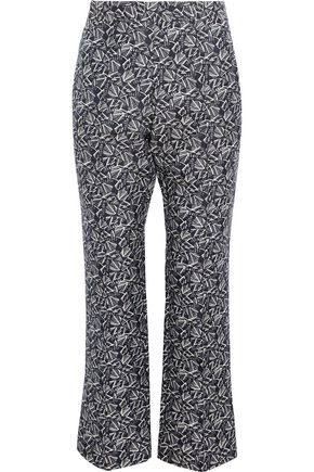MARNI Cotton and silk-blend crepe bootcut pants