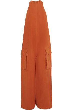 RICK OWENS Cotton and silk-blend jumpsuit