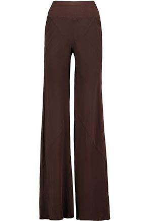 RICK OWENS Mastodon silk-georgette flared pants