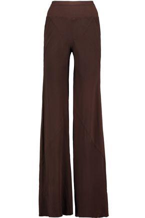 RICK OWENS Mastodon silk-georgette flared pants