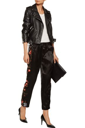 W118 by WALTER BAKER Jinx embroidered satin tapered pants