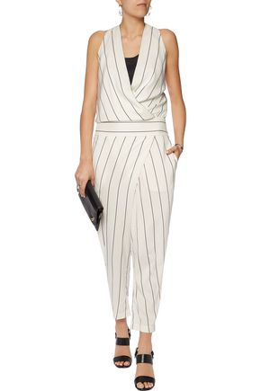 BRUNELLO CUCINELLI Striped silk-blend jumpsuit
