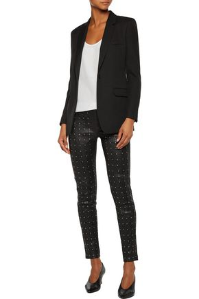 RAG & BONE Hyde studded stretch-leather skinny pants