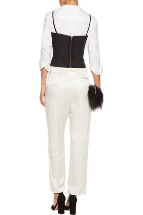 MM6 by MAISON MARGIELA Linen-blend straight-leg pants