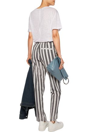 MM6 MAISON MARGIELA Striped cady straight-leg pants