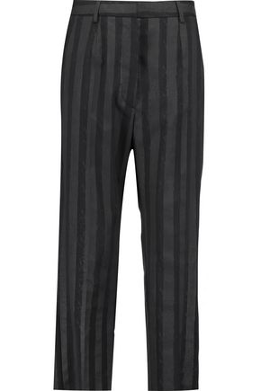 MM6 by MAISON MARGIELA Striped cady straight-leg pants