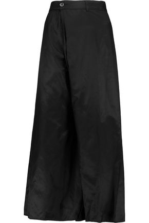 MM6 MAISON MARGIELA Cotton-blend satin-twill wrap culottes