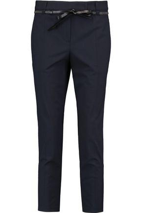 BRUNELLO CUCINELLI Cropped wool-blend twill slim-leg pants