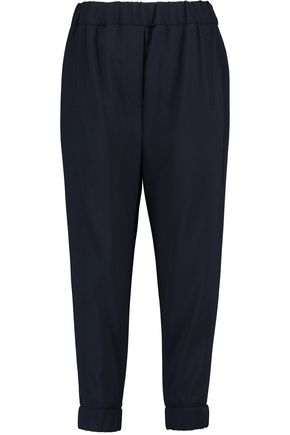 BRUNELLO CUCINELLI Wool-blend twill tapered pants