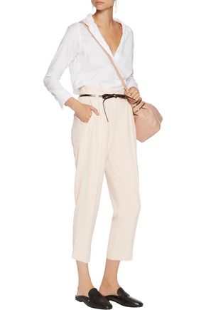BRUNELLO CUCINELLI Cropped crepe tapered pants