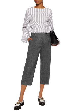 BRUNELLO CUCINELLI Wool-blend tweed wide-leg pants