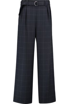 BRUNELLO CUCINELLI Checked twill wide-leg pants