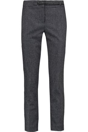 BRUNELLO CUCINELLI Belted checked wool-blend pants