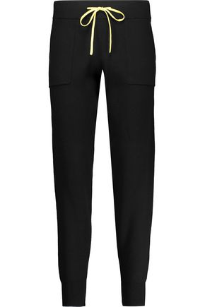 DUFFY Cotton and cashmere-blend track pants