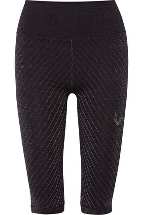 LUCAS HUGH Technical Knit Stardust metallic stretch leggings