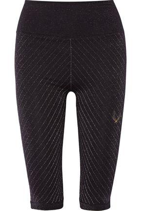 LUCAS HUGH Technical Knit Stardust metallic stretch leggings