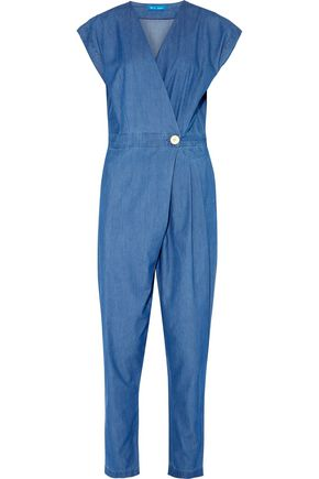 M.I.H JEANS Lantana wrap-effect chambray jumpsuit