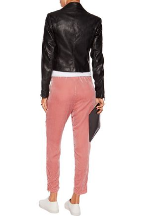 GANNI Dina velvet tapered pants