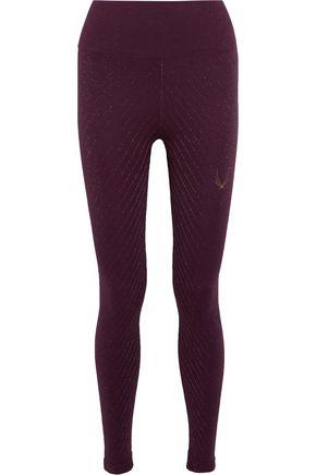 LUCAS HUGH Stardust metallic stretch-jersey leggings