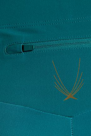 LUCAS HUGH Rebel mesh-paneled stretch-jersey leggings