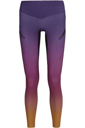LUCAS HUGH Rebel mesh-paneled stretch-jersey leggings