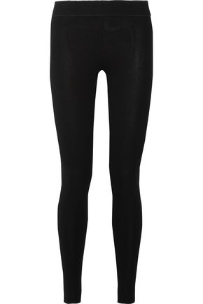 ENZA COSTA Ribbed stretch-knit leggings