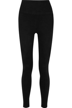 JAMES PERSE Stretch-fleece leggings