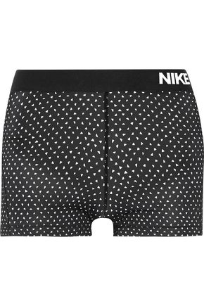NIKE Pro Cool Dri-FIT printed stretch-jersey shorts