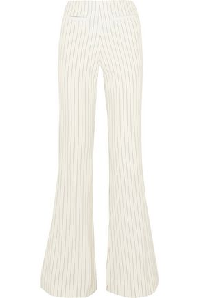 BY MALENE BIRGER Cirah pinstriped stretch-crepe flared pants